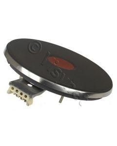 Snel kookplaat fornuis rode stip 4 aansluitingen 145mm 1500W rand 8mm Ego 13892