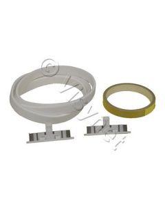 Viltband voorzijde + glijsegment wasdroger Zanker Electrolux 11143