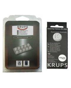 Reinigings tabletten10 stuks expresso koffiezetter XS3000 Krups 30