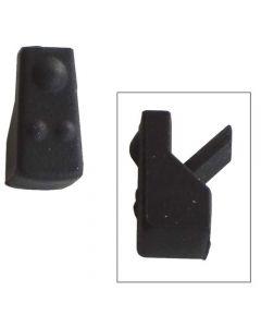 Dopje zwart voor fornuis kookplaat pannendrager set a 4 stuks origineel Bauknecht Ignis Ikea Whirlpool 12413