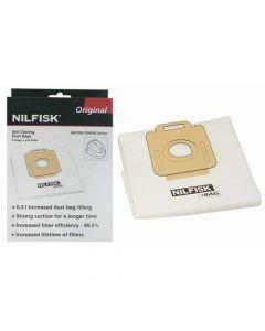 Stofzuigerzak fleece 4 stuks + 1x filter Select / Power / Classic serie origineel  Nilfisk  11946