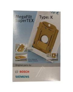 Stofzuigerzak fleece 4 stuks Type K origineel Siemens Bosch 12060