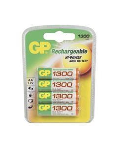 Batterij oplaadbaar NiMH AA A4 1300mAh origineel GP 3062