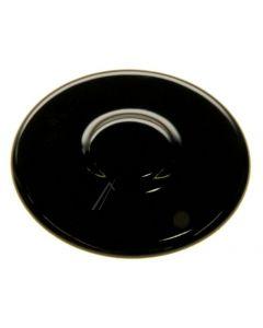 Brander deksel 50 mm sudder zwart gaskookplaat fornuis origineel Ariston Blue Air Hotpoint Indesit 13296
