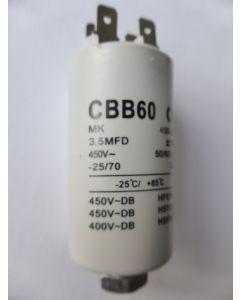 Condensator aanloop 6x3 cm 3.5UF 60x31 mm universeel 286 x