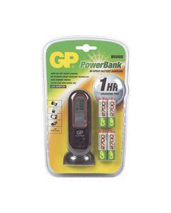 Batterij lader +4AA 2700mAh V600D origineel GP 3083