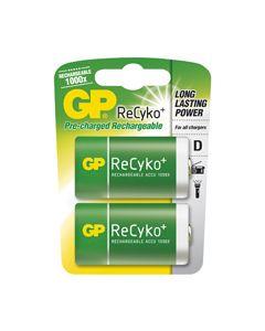 Batterij oplaadbaar Recyko en D A2 2600mAh origineel GP 3070