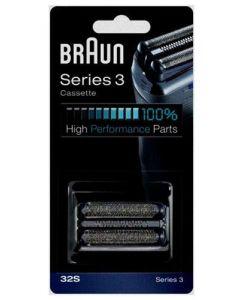 Cassette 3 series 32S zilver scheerapparaat Braun 12180