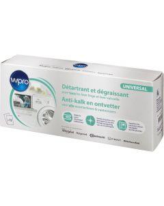 Ontkalker antikalk  12 zakjes ontvetter voor wasmachine en vaatwasser universeel WPRO 16016