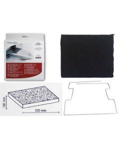 Filter koolstof 22 x 18cm afzuigkap AEG Electrolux Ikea Whirlpool Bauknecht 6916