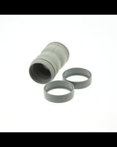Koppeling rubber 32mm 2x ring origineel stofzuiger Nilfisk 1331