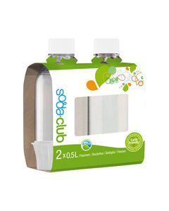 1/2 Liter fles flessen wit a 2 stuks origineel SodaClub SodaStream 2379