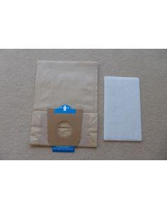 Stofzuigerzak 7 stuks fleeze/papier Type A  Bosch Siemens 13964
