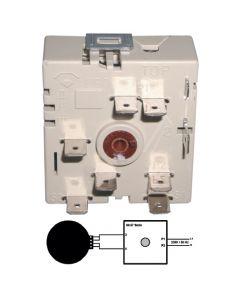 Energie schakelaar oven fornuis kookplaat rechts draaiend Ego Bauknecht Ignis Ikea Philips Whirlpool Smeg  5118