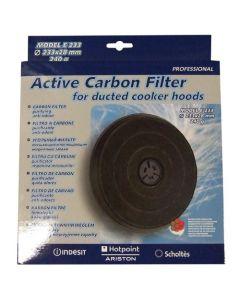 Filter koolstof 233 x 28mm afzuigkap Ariston Blue Air Indesit Dietrich Zanussi 6925