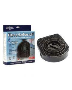 Filter koolstof 18 x 20 x 4,8cm afzuigkap Ariston Hotpoint Scholtes Indesit Miele 6937