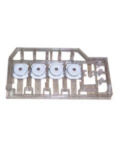 Houder met knop wasmachine origineel Beko Blomberg 9681