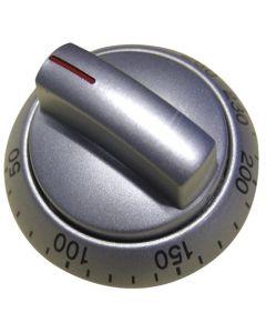 Knop ovenknop zilver temperatuur fornuis kookplaat origineel Bosch Siemens 13134
