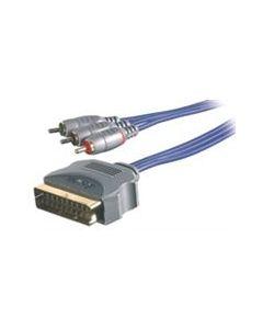 Kabel 3x RCA <-> Scart 3787