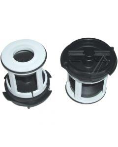Filter kort voor plaset pomp wasmachine Bauknecht Ignis PhilipsWhirlpool 296