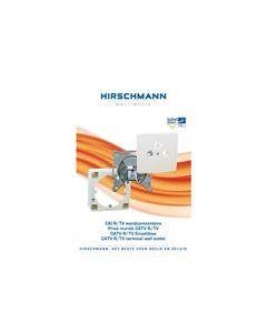 Wandcontactdoos Eind CAI  R/TV Hirschmann 80
