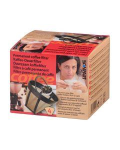 Filter koffie permanent goldtone koffiezetter universeel 1823