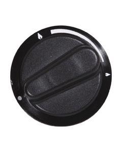 Knop zwart gas fornuis kookplaat origineel ATAG 2048