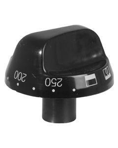 Knop zwart convectie oven elektrisch fornuis kookplaat  origineel PELGRIM 2057