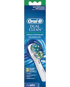 Opzet borstel Dual Clean OPZETBORSTELS - DUAL CLEAN - EB 417/3 3 stuks origineel Braun 2504