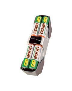 Batterij lader +4AA 2500mAh M510 origineel GP 3087