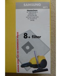 Stofzuigerzak fleece 8 stuks Homeclean S073 Samsung 13896