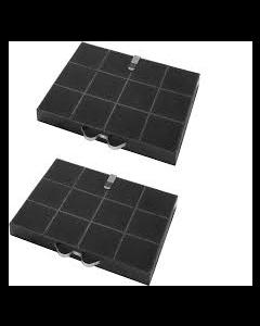 Filter koolstof 295 x 210 x 30mm set á 2 stuks afzuigkap Bauknecht Whirlpool Ikea 6949