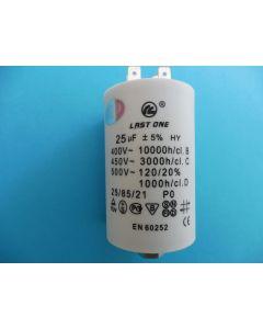 Condensator  aanloop 7x4.5 cm 25UF universeel 306 x