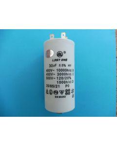 Condensator  aanloop 9.2x4.5 cm 30UF universeel 308 x