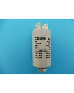 Condensator aanloop 5.5x3 cm 2.5UF universeel 284 x