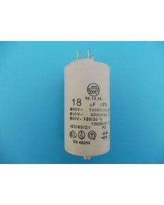 Condensator  aanloop 7.2x4 cm wasmachine 18UF universeel 303 x
