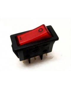 Schakelaar rood aan/uit 20 amp koffiezetter origineel Daalderop 10744